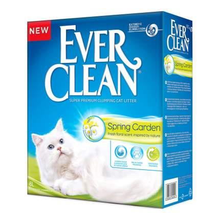 Комкующийся наполнитель для кошачьего туалета EVER CLEAN Spring Garden с ароматом сада 6л