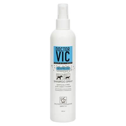 Шампунь-спрей для кошек, для собак Doctor VIC универсальный, экстракт алоэ, 250 мл
