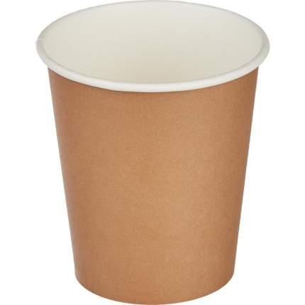Стакан одноразовый Стандарт бумажный коричневый 200 мл 50 штук в упаковке
