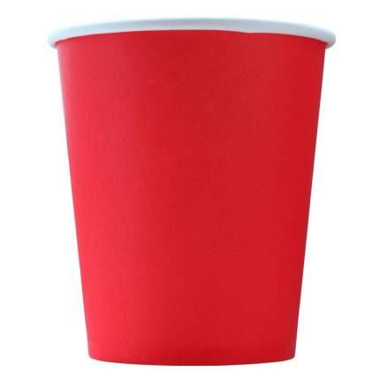 Стакан одноразовый Эконом бумажный красный 250 мл 75 штук в упаковке