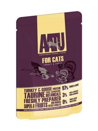 Влажный корм для кошек AATU , индейка, домашняя птица, 85г