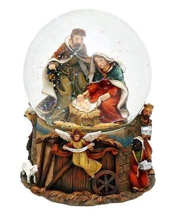 Снежный шар Sigro музыкальный Святое семейство большой 14,5х11х11 см