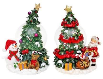 Снежный шар Sigro Рождественская елочка 10x8,5x13,5 см в ассортименте