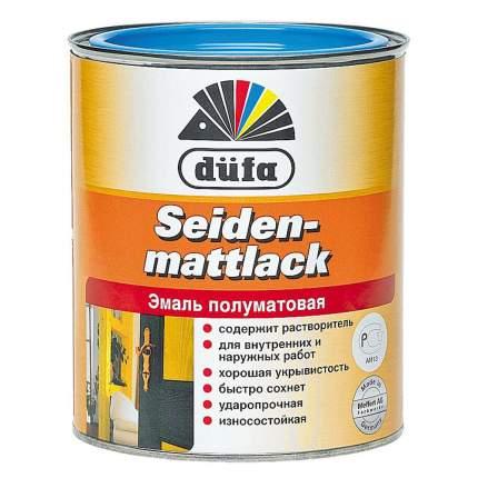 Эмаль DUFA Seidenmattlack белая 0,75 л
