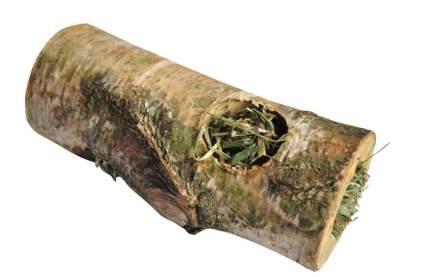 Тоннель для все грызуны LOLO PETS из березового полена с луговым сеном, 19-20 см