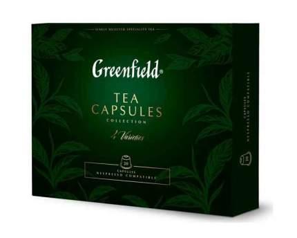 Набор чая Greenfield из 4 видов, 20 капсул для кофемашин Nespresso