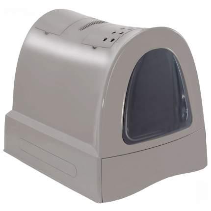 Туалет для кошек IMAC Zuma, прямоугольный, серый, 56х40х42,5 см
