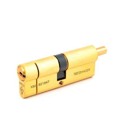 Цилиндровый механизм Apecs N6 шток/ключ 40-40 (80мм) золото (5key) шток L=15мм ф=8мм