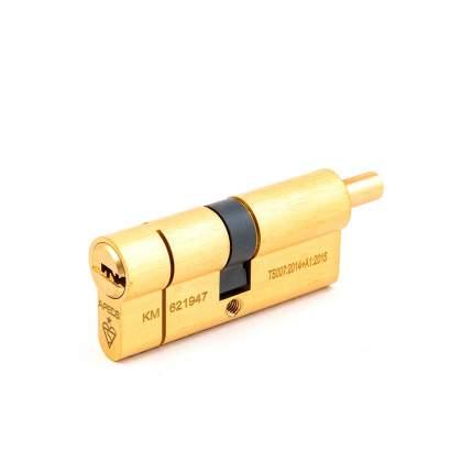 Цилиндровый механизм Apecs N6 шток/ключ 35-35 (70мм) золото (5key) шток L=15мм ф=8мм