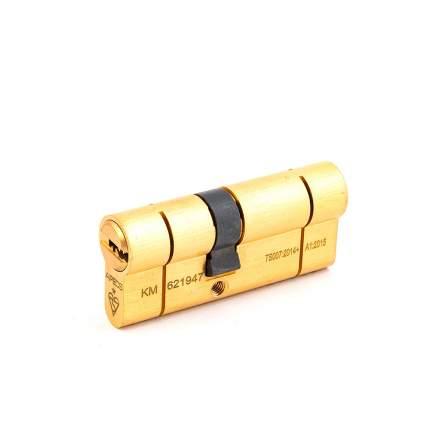 Цилиндровый механизм Apecs N6 ключ/ключ 31-40 (71мм) золото (5key)