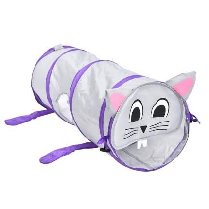 Тоннель для кошек FOXIE Мышка серый 25х70см