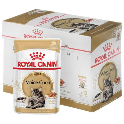 Влажный корм для кошек ROYAL CANIN Maine Coon, курица, 12шт, 85г