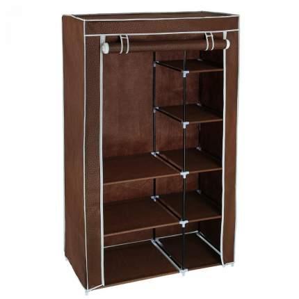 Тканевый шкаф для одежды кофейный, 100 х 50 х 170 см