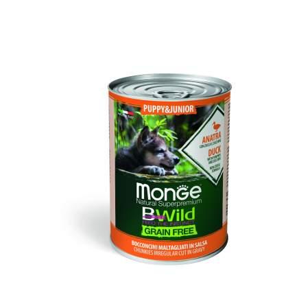 Консервы для щенков Monge Dog BWild Grainfree PUPPY/JUNIOR утка, тыквой, кабачок 400г