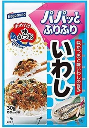 Приправа Hagoromo фурикакэ для риса для овощей и круп с иваси 30 г