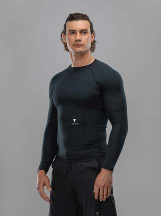 FIFTY Мужская футболка с длинным рукавом High Force FA-ML-0101-BLK, черный - L