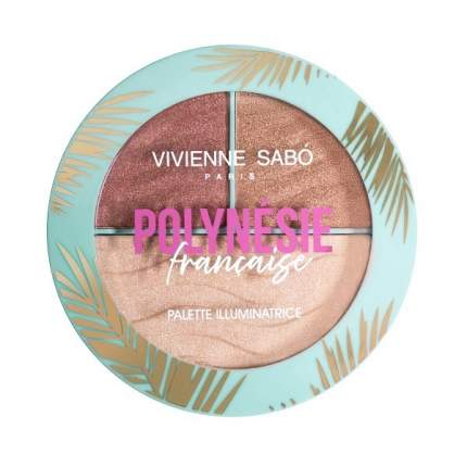 """Палетка хайлайтеров Vivienne Sabo """"Polynesie Francaise"""", тон 01"""