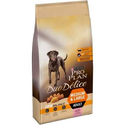 Сухой корм для собак PRO PLAN Duo Delice Medium & Large Adult, лосось и рис, 10 кг