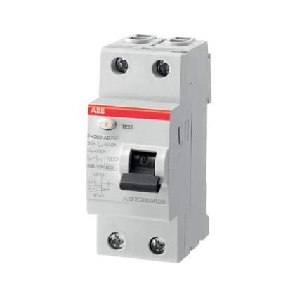 Автоматический выключатель ABB FH202AC-63/0,3 УЗО 2P 63А 300мА AC 6кА