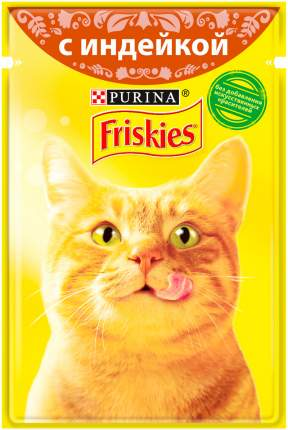 Влажный корм для кошек Friskies, c индейкой в подливе, 24шт по 85г