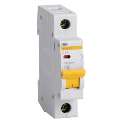 Автоматический выключатель IEK ВА47-29 1Р 16А 4.5кА х-ка D