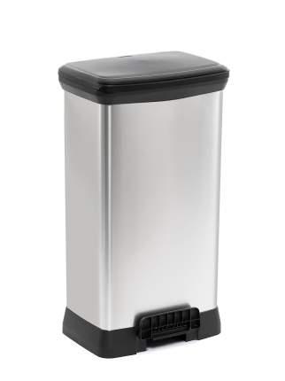 Контейнер для мусора с педалью DECO BIN 50л металлик