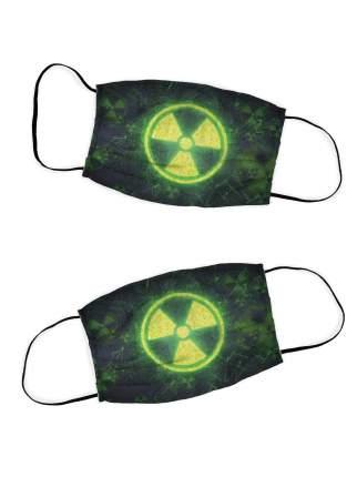 Многоразовая защитная маска DekorTex набор 2 шт. Радиация 709321