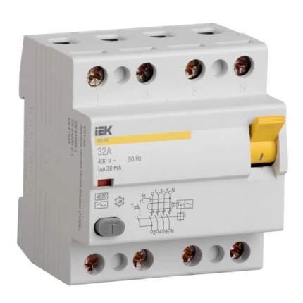 Выключатель дифференциальный IEK ВД1-63 (УЗО) 4Р 40А 30мА