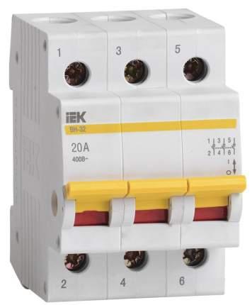 Выключатель нагрузки (мини-рубильник) IEK ВН-32 3Р 20А