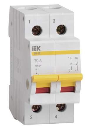 Выключатель нагрузки (мини-рубильник) IEK ВН-32 2Р 20А
