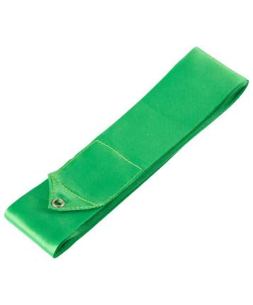 Гимнастическая лента Amely AGR-201 с палочкой 56 см, 6 м, зеленая