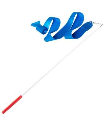 Гимнастическая лента Amely AGR-201 с палочкой 56 см, 6 м, голубая