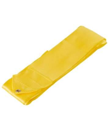 Гимнастическая лента Amely AGR-201 с палочкой 46 см, 4 м, желтая