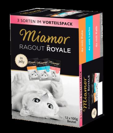 Влажный корм для кошек Miamor Ragout Royal, индейка, лосось,телятина100г  12шт