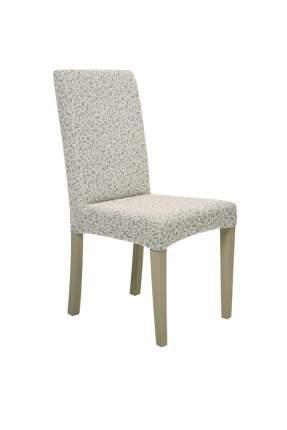 """Чехол на стул без оборки Venera """"Жаккард"""", цвет слоновая кость, 1 предмет"""
