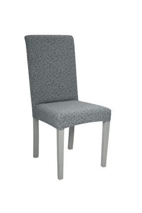 "Чехол на стул без оборки Venera ""Жаккард"", цвет серый, 1 предмет"