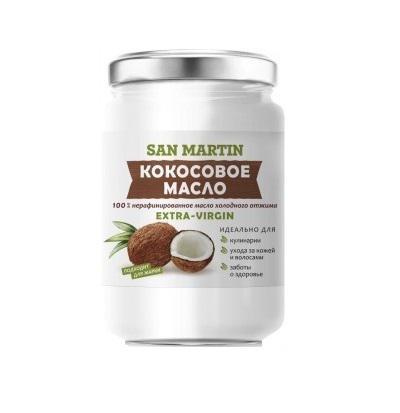 Масло SAN MARTIN  Кокосовое 100% нерафинированное холодного отжима 350мл