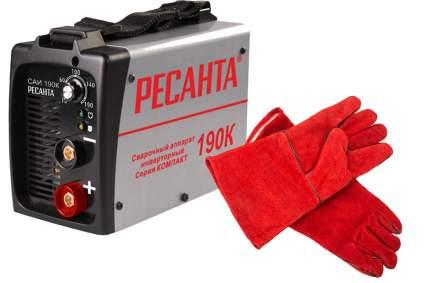 Сварочный инвертор САИ-190К Ресанта + краги