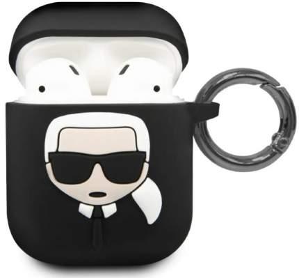 Чехол Karl Lagerfeld Silicone Case (KLACCSILKHBK) для AirPods Black