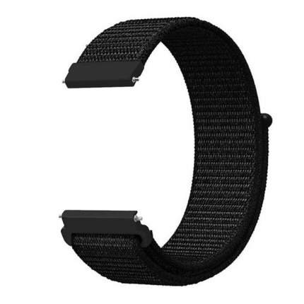 Универсальный ремешок Nuobi Nylon для Xiaomi, Huawei, Samsung, Garmin (20 мм) (Черный)