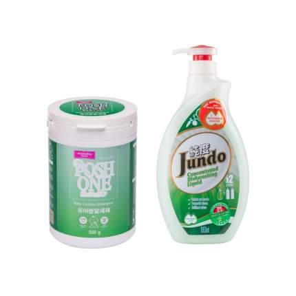 Стиральный порошок Posh One Ecobaby и эко гель Jundo Green tea with Mint