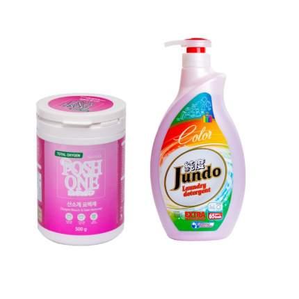Пятновыводитель Posh One и гель для стирки цветного белья Jundo Color