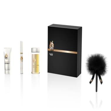 Набор Love Box: Массажное масло TITILLATING 30 мл, интимный гель 10 г, карандаш, щекоталка