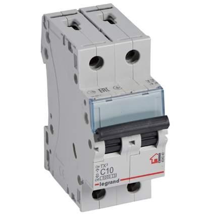 Автоматический выключатель 2Р 6A (C) 6.0kA TX3 Legrand