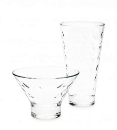 Коктейльный набор 8 предметов ШЕТЛАНД ДАЙМОНД (4 стакана 350мл+4 креманки)