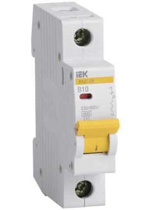 Автоматический выключатель IEK ВА47-29, 1P 10А, тип В, 4.5кА, MVA20-1-010-B
