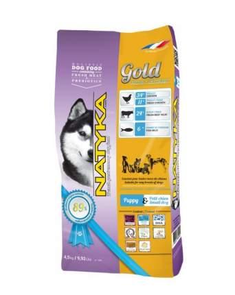 Корм полувлажный для щенков и собак мелких пород NATYKA Gold Puppy & Small Dogs, 4,5кг