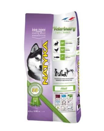 Корм полувлажный для собак NATYKA Veterinary Rabbit Adult, кролик, 4,5кг