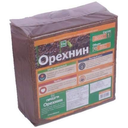 Кокосовый субстрат Nekura Орехнин 1 брикет 70 л