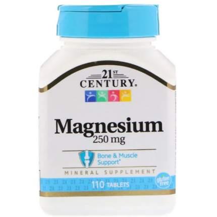 Магний 21st Century Magnesium 250 mg 110 таблеток